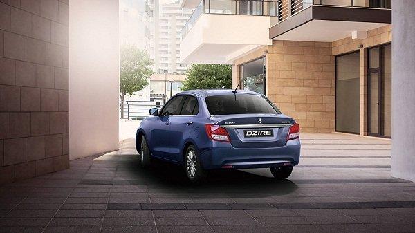 Suzuki Dzire 2019 rear view