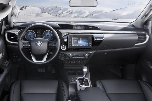 A picture of the 2020 Toyota Hilux's interior