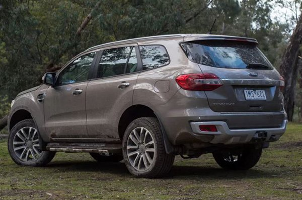 Ford Everest 2020 rear view