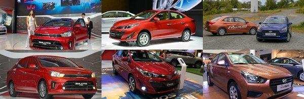 Toyota Vios, Hyundai Reina, Kia Soluto