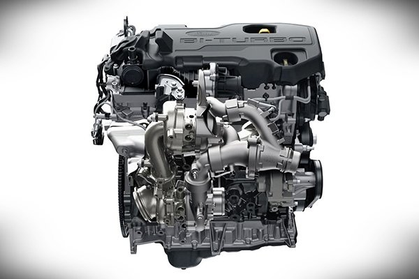2020 Ford Everest's 2.0 liter engine