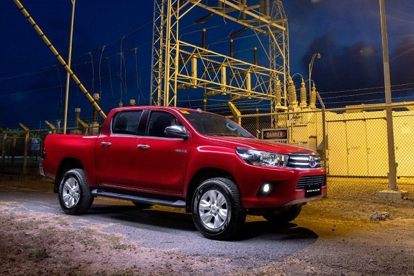 Toyota Hilux 2020 on the road