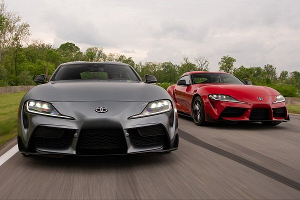 Toyota Supra 2020 on the road