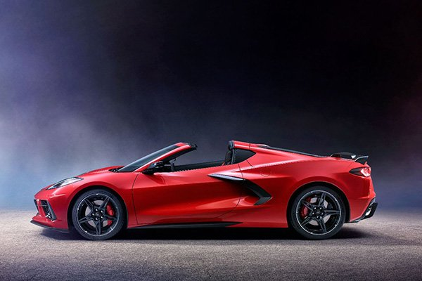 A picture of the 2020 Chevrolet Corvette with the top down