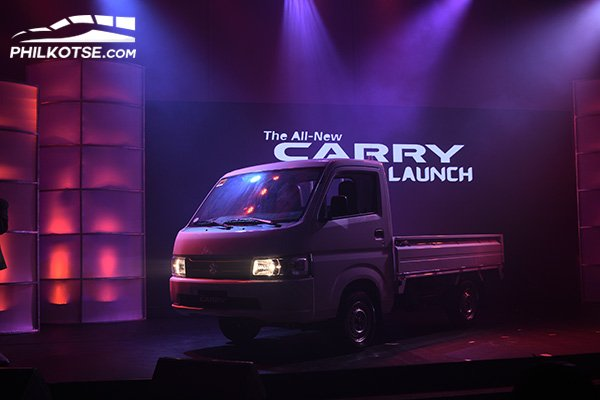 A picture of the 2020 Suzuki Carry during its launching event at Alabang