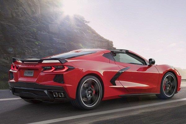 Chevrolet Corvette 2020 on the road