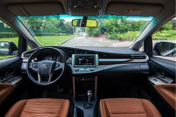 A picture of the interior of the 2019 Toyota innova touring sport