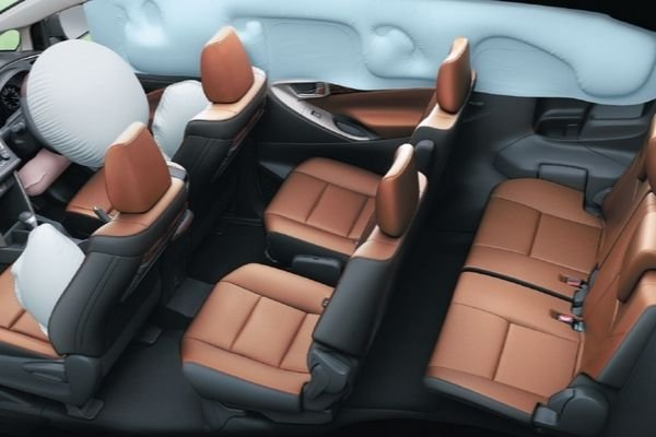 A picture of the Toyota innova airbags activated