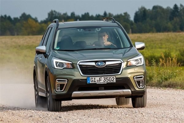 2020 Subaru Forester on a Dirt Trail