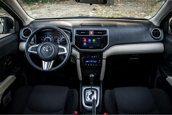 A picture of the 2019 Toyota Rush's interior