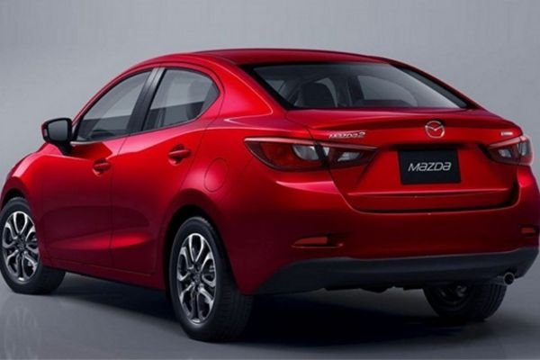 The rear of the Mazda 2.