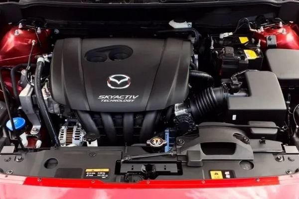 A picture of the 2019 Mazda 2's engine