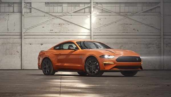A front shot of the 2020 Mustang