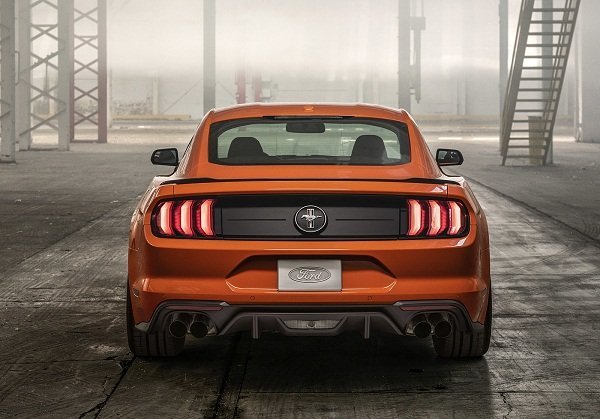 A picture of the rear of the 2020 Mustang Ecosport 2.3 L Ecoboost