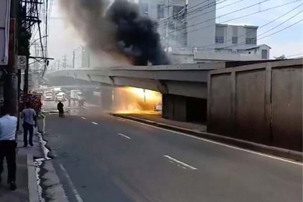 A picture of the recent LRT 2 fire