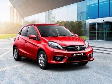 Brio is a sporty looking hatchback