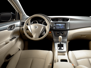 The Sylphy gets a well-equipped interior