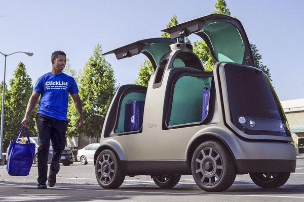 Autonomous grocery delivery vehicle