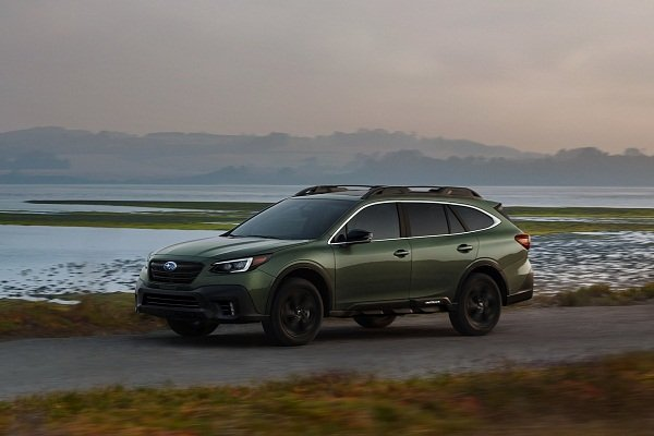2020 Subaru Outback on the road
