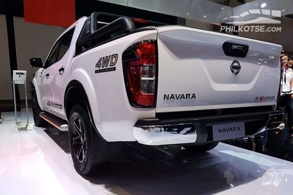 A picture of the rear of the 2020 Nissan Navara N-Warrior at the 2019 MIAS