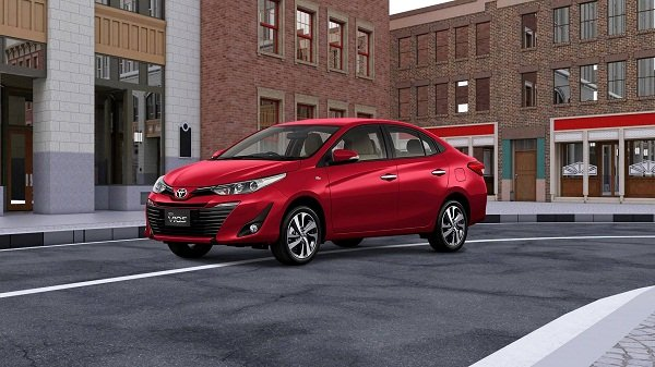 Toyota Vios 2019 on the road