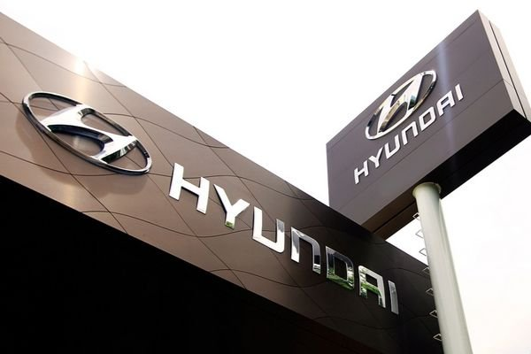 A picture of Hyundai signage in one of their dealerships here in the Philippines