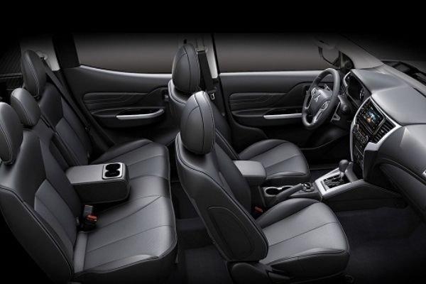 A picture of the interior of the Mitsubishi Strada