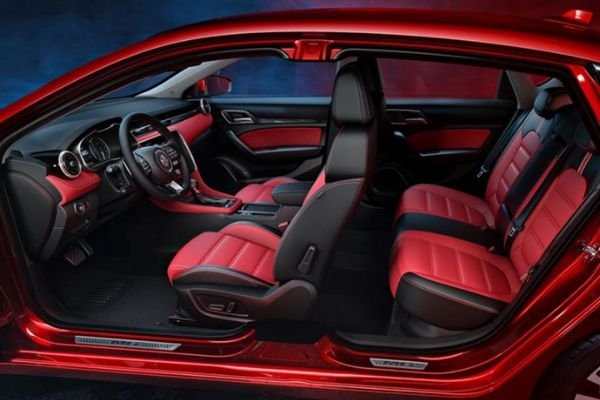 MG 6 Red and black interior