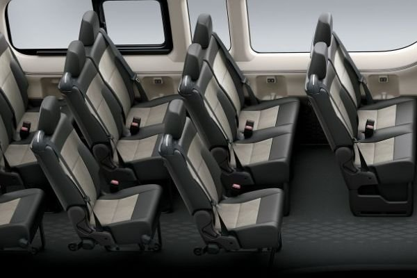 A picture of the Hiace GL Grandia Tourer interior.