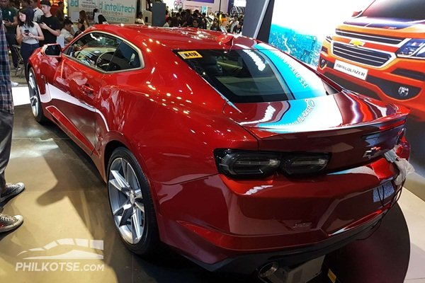A picture of the Chevrolet Camaro's rear at the 2019 MIAS