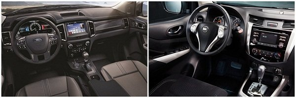 Ford Ranger vs Nissan Navara interior