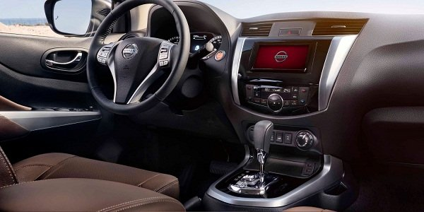 A picture of the Nissan Terra's front cabin