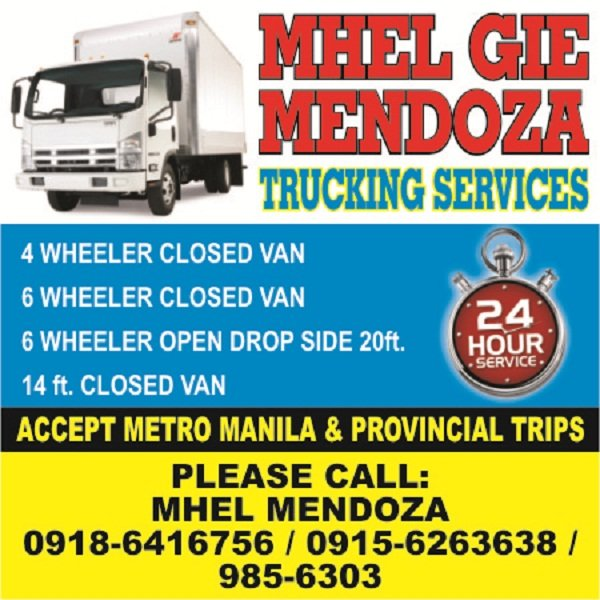 A picture of A.Mendoza services and contact numbers