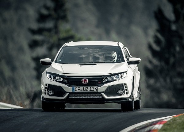 A picture of the 2020 Honda Civic Type R on a race-track