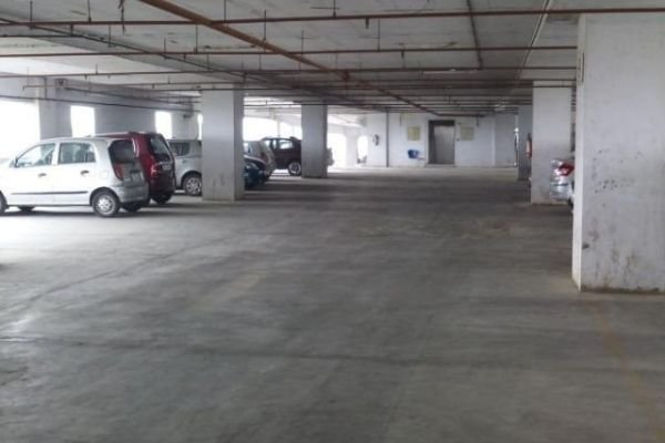 A picture of of a typical parking space for rent