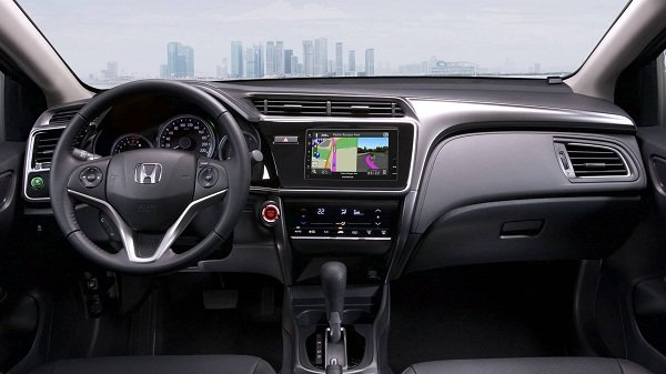 The Honda City's front cabin