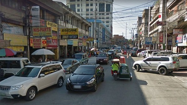 A picture of several car parts stores in Banawe, Quezon City