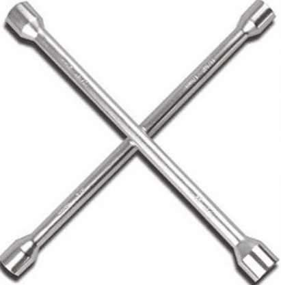 4-way lug wrench or tire spanner