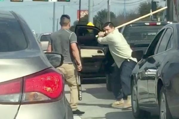 A picture of that legendary road rage duel.