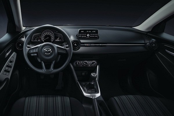 A picture of the interior of the Mazda 2