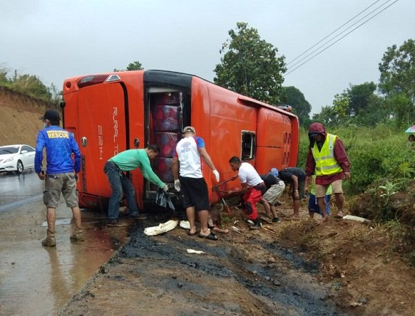 A picture of a road accident in Bukidnon