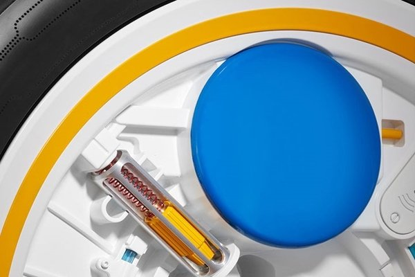 self-inflating tire ilustration