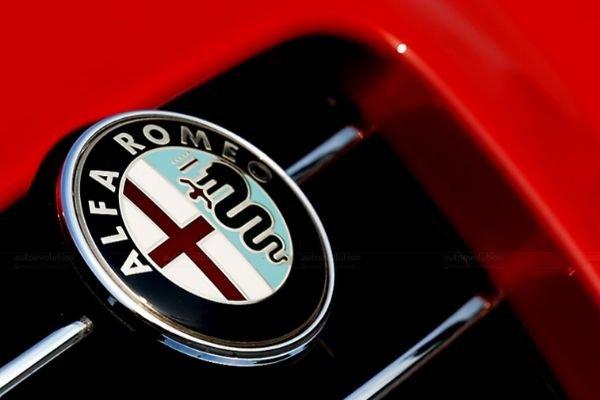 Alfa Romeo Badge on display