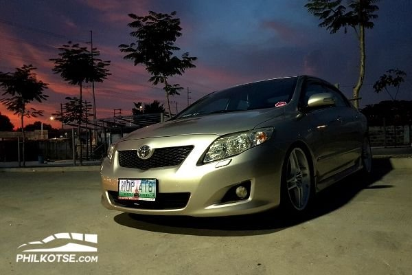 Toyota Corolla Altis at dusk