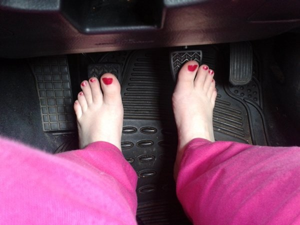 bare foot driving
