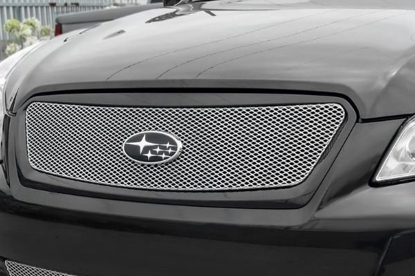 A picture of a car's grille