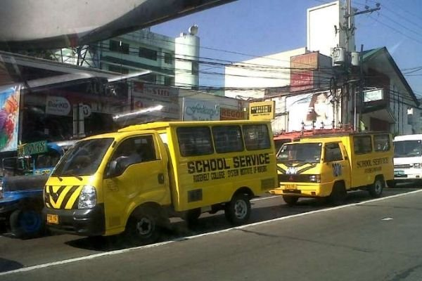 A picture of an authorized and franchised school service vehicle