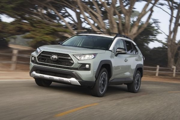 A picture of the 2020 Toyota Rav4.