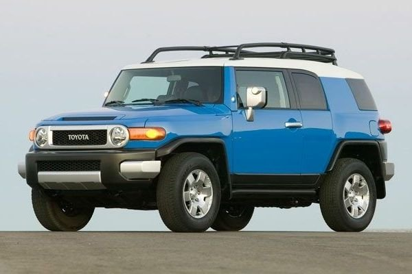 2020 Toyota FJ Cruiser on the road