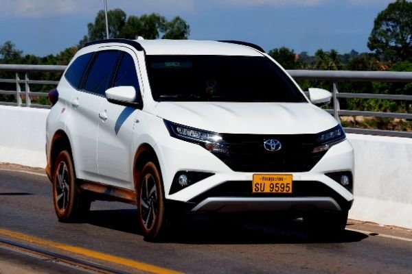 2020 Toyota Rush on the road